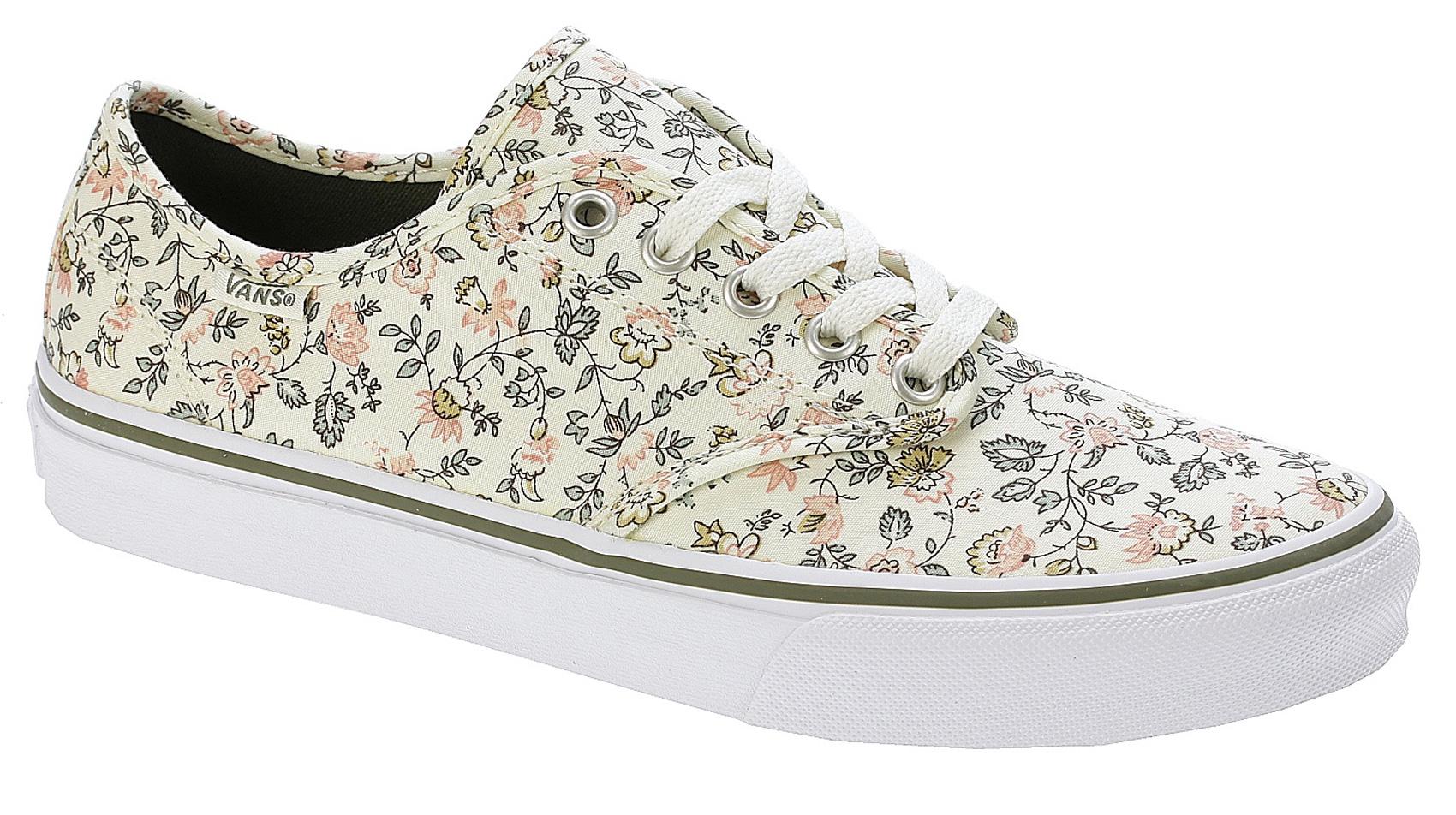 3bbad79d068ece Details about Vans Womens Skate Shoes - Camden Stripe - Vintage Floral