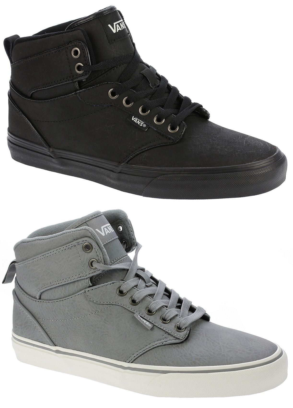 cab32f2f1d96d3 Sentinel Vans Skate Shoes - Atwood Hi - (Leather) Frost Grey Marshmellow