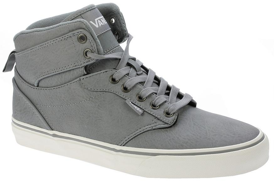 1381378056 Vans Atwood HI Shoes Leather · Black-Black · Frost-Grey-Marshmallow