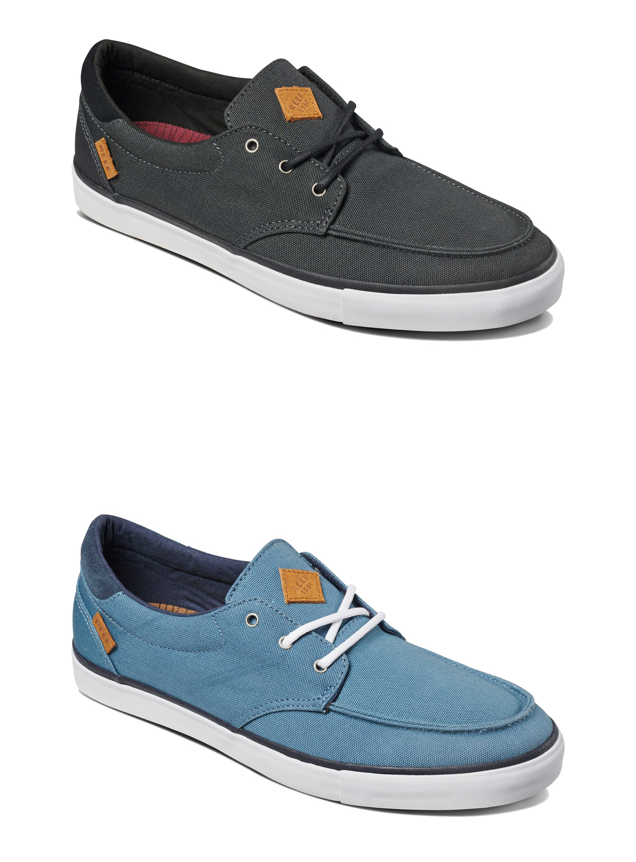 efd1e5a99bbb Details about Reef Surf Style Shoes - Deckhand 3 - Black White
