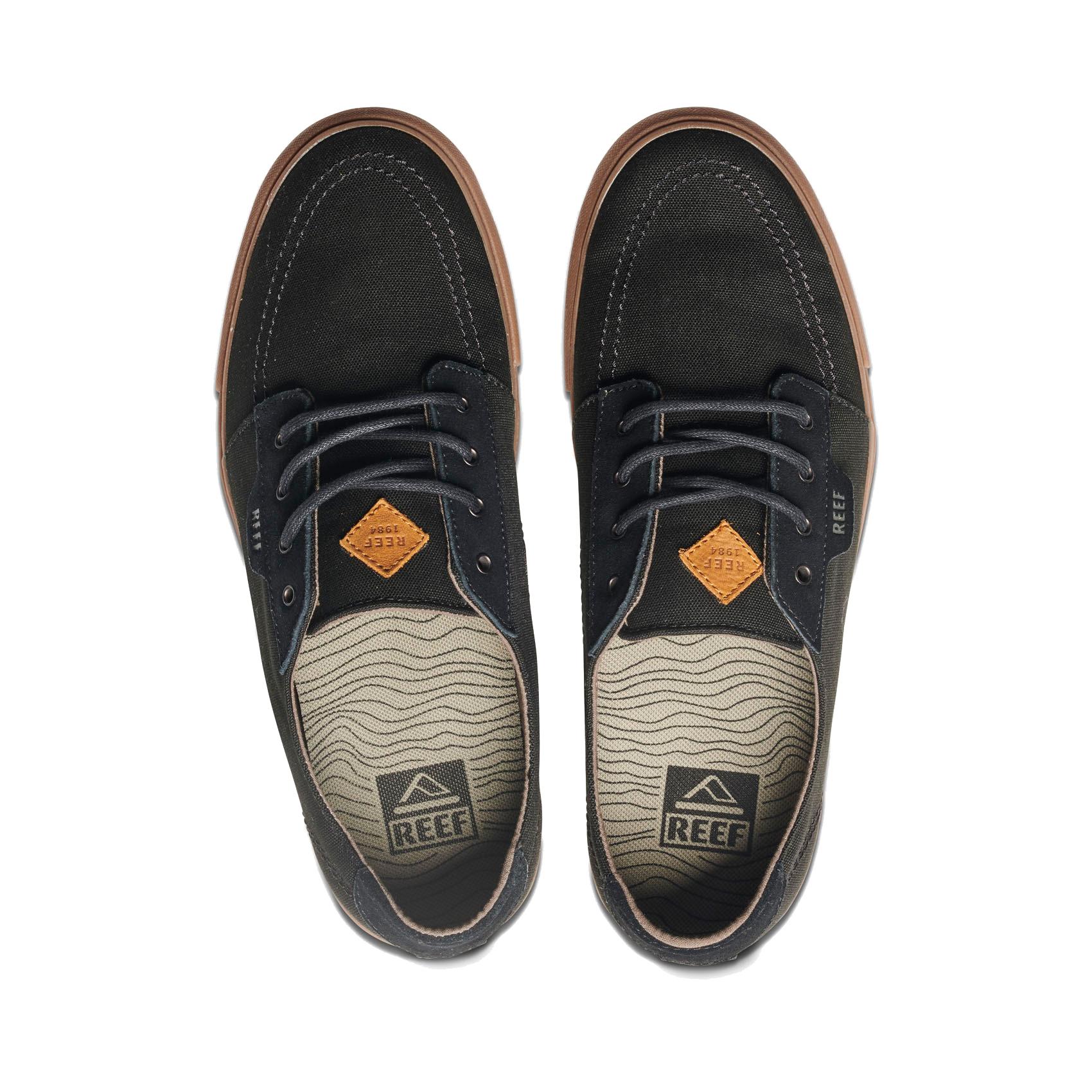 d121a43a9d395 Reef Surf Style Shoes - Banyan 2 - Black Gum, Premium Canvas Upper ...