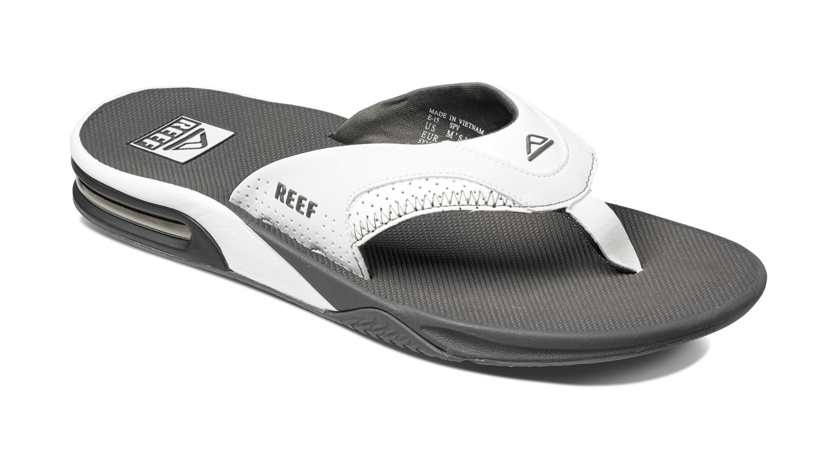 c047472dec37 2017 Reef Fanning Bottle Opener Flip Flops Grey   White R2026 UK Size 12.  About this product. Picture 1 of 7  Picture 2 of 7  Picture 3 of 7 ...
