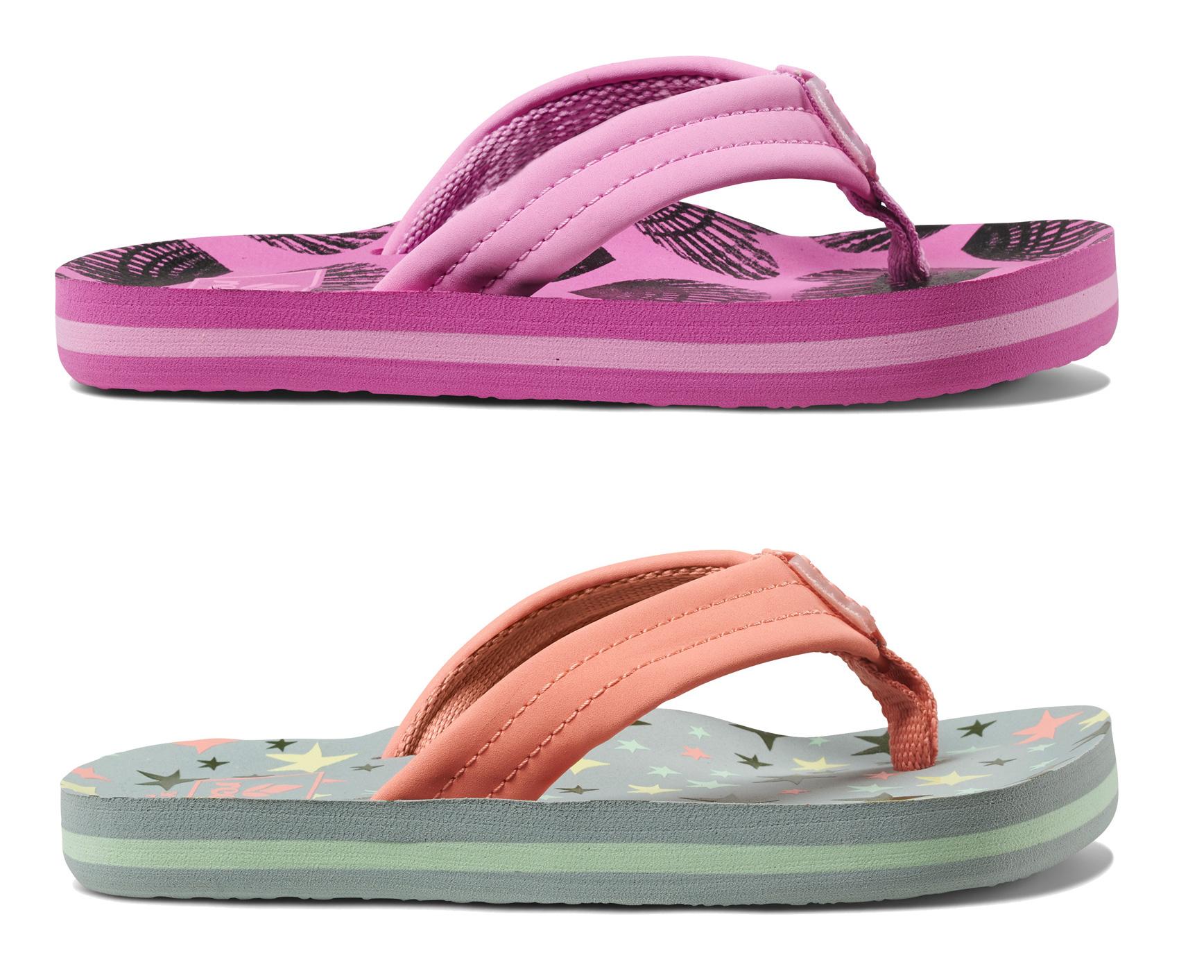 1abe81eb1700 Sentinel reef kids flip flops little ahi girls hearts shell pink stripes  jpg 1700x1400 Shell flip