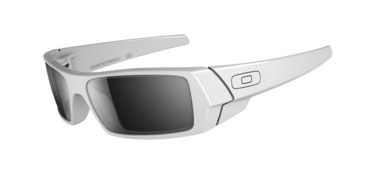 47de82dd485 Oakley Gascan Sunglasses Polished White Black Iridium