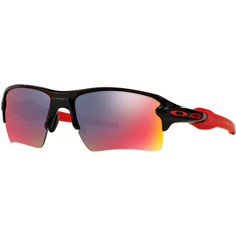 6ff7c5d128 Oakley Flak 2.0XL Sunglasses Polished Black +Red Iridium ...