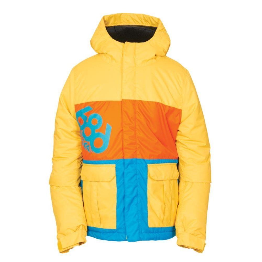 20732f495 686 Boys Elevate Snowboard Ski Jacket - Yellow Medium Age 10 12 ...