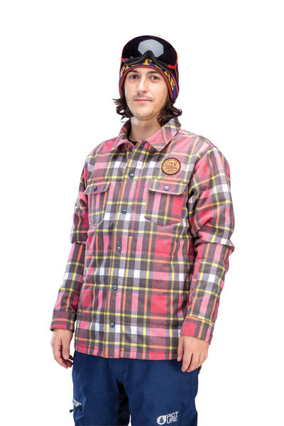 Picture Ridingo Mens Shirt / Jacket Red Plaid Large
