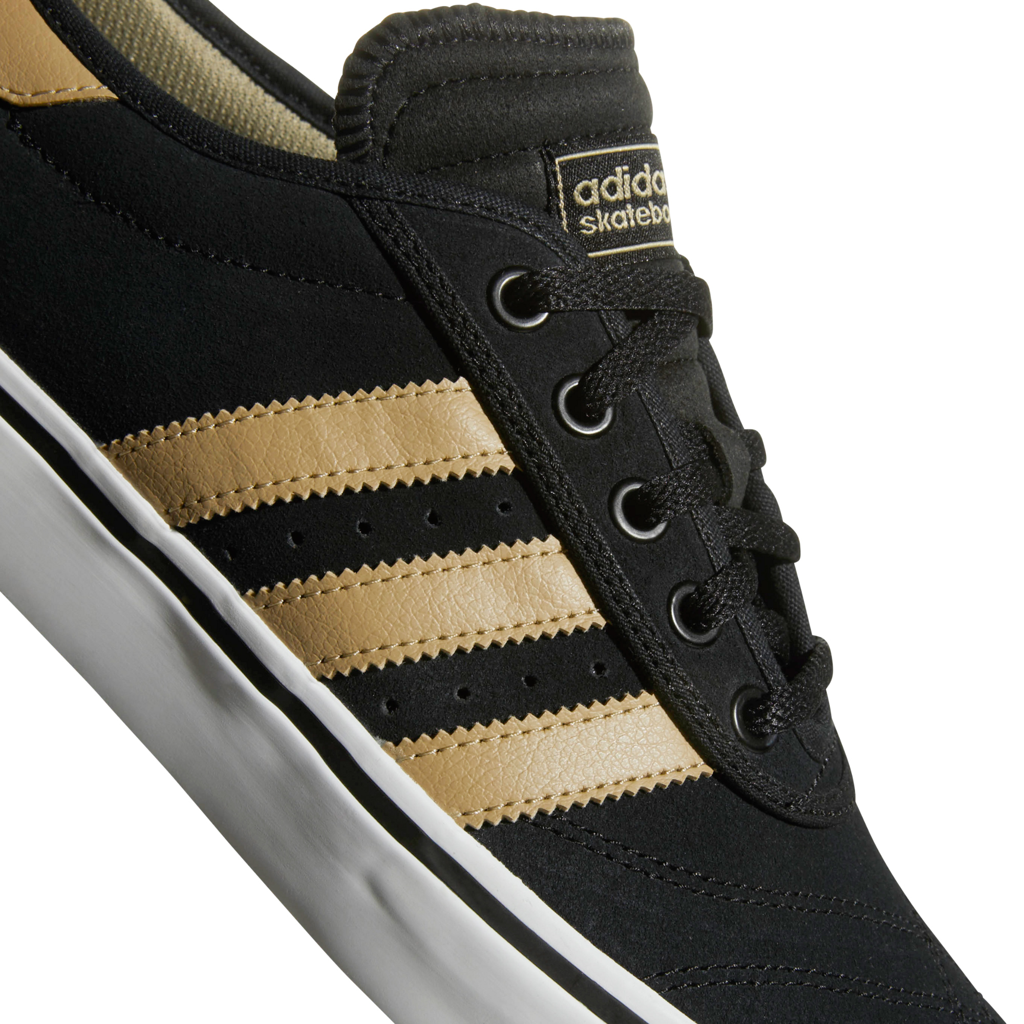 8e2dc2363152 adidas Skateboarding Adi Ease Premiere Suede Shoes Black Raw Gold White  11.5. About this product. Picture 1 of 7  Picture 2 of 7  Picture 3 of 7   Picture 4 ...