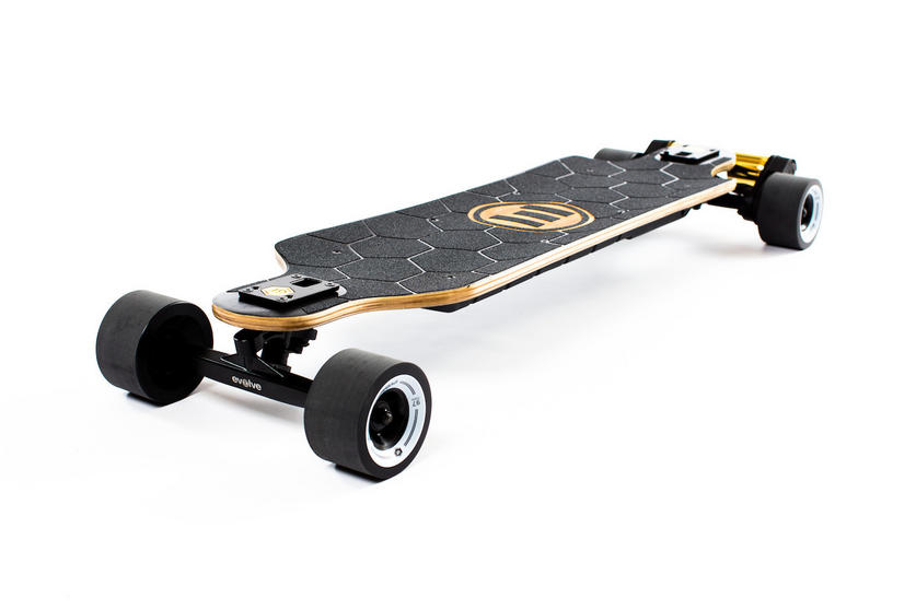 Evolve Skateboards Bamboo GTX Series Street - (97mm Street wheels) Black Motors