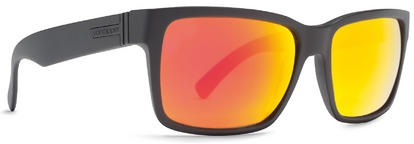 VonZipper Elmore Sunglasses Black Satin Lunar Chrome