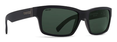 VonZipper Fulton Sunglasses Black Smoke Satin Wildlife Vintage Grey