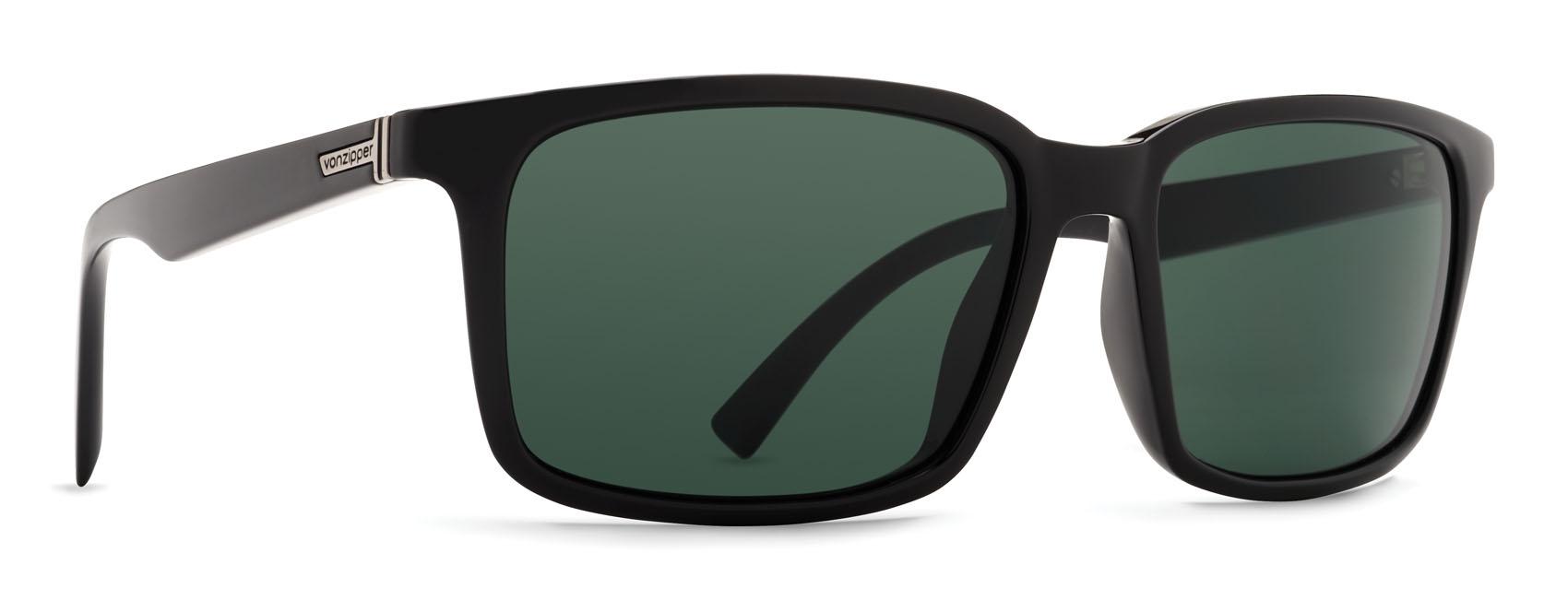 56ca2876f3 VonZipper Pinch Sunglasses Black Gloss Vintage Grey
