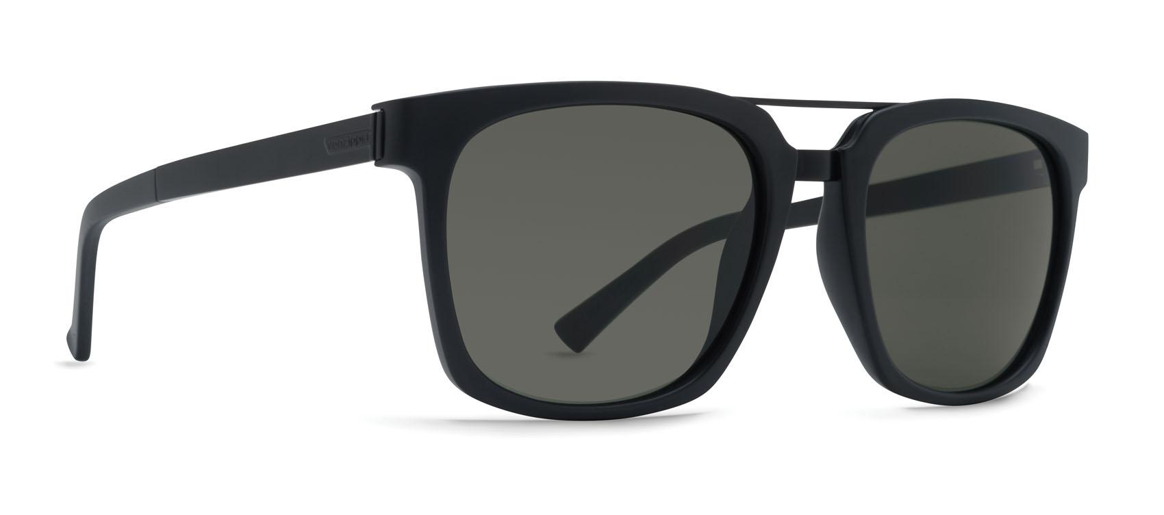 f569adfb30 VonZipper Plimton Sunglasses Black Satin Vintage Grey