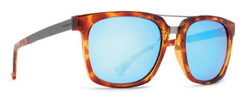 VonZipper Plimton Sunglasses Havanna Tortoise Ice Blue Chrome