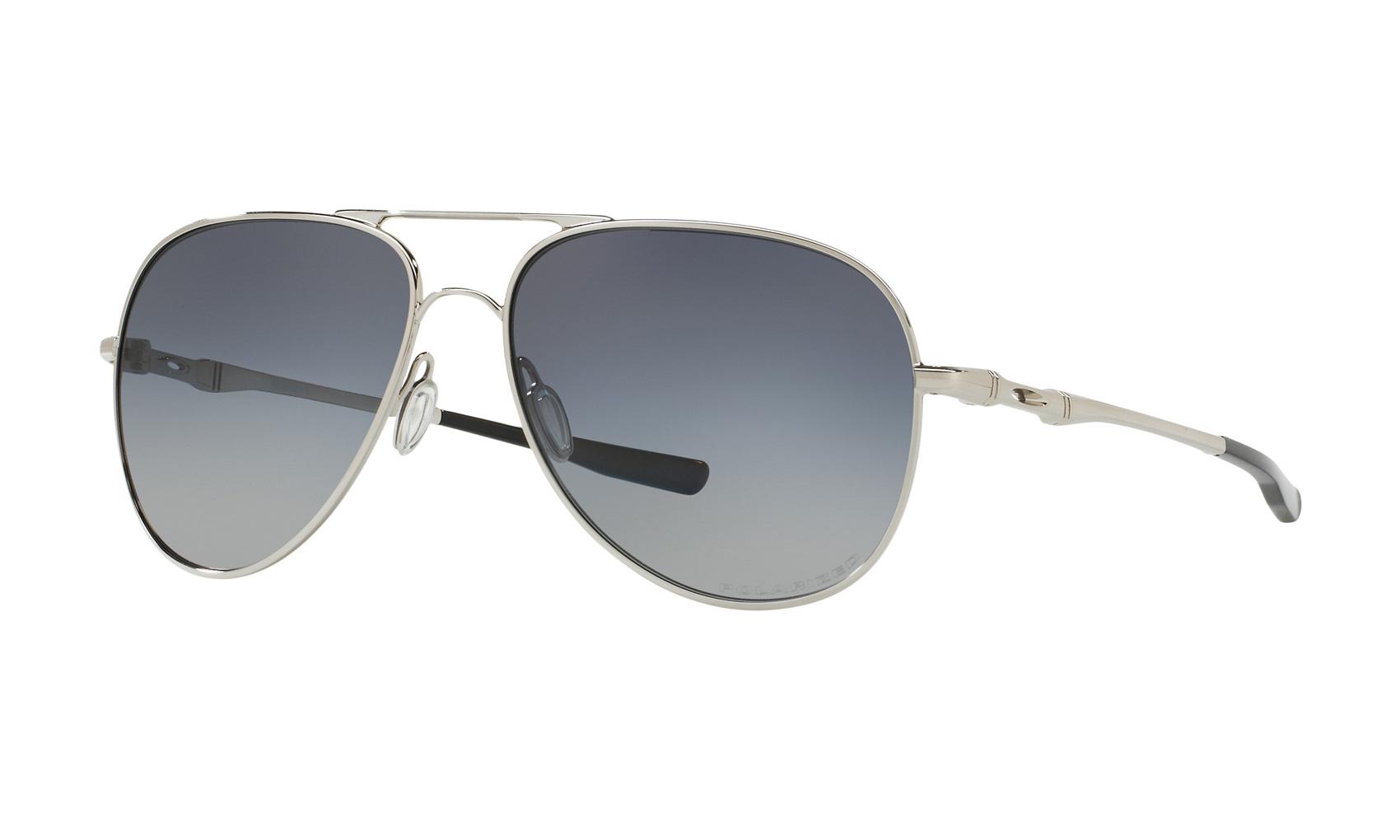 4053420d108 Oakley Elmont L Sunglasses Chrome Grey Gradient Polarized ...