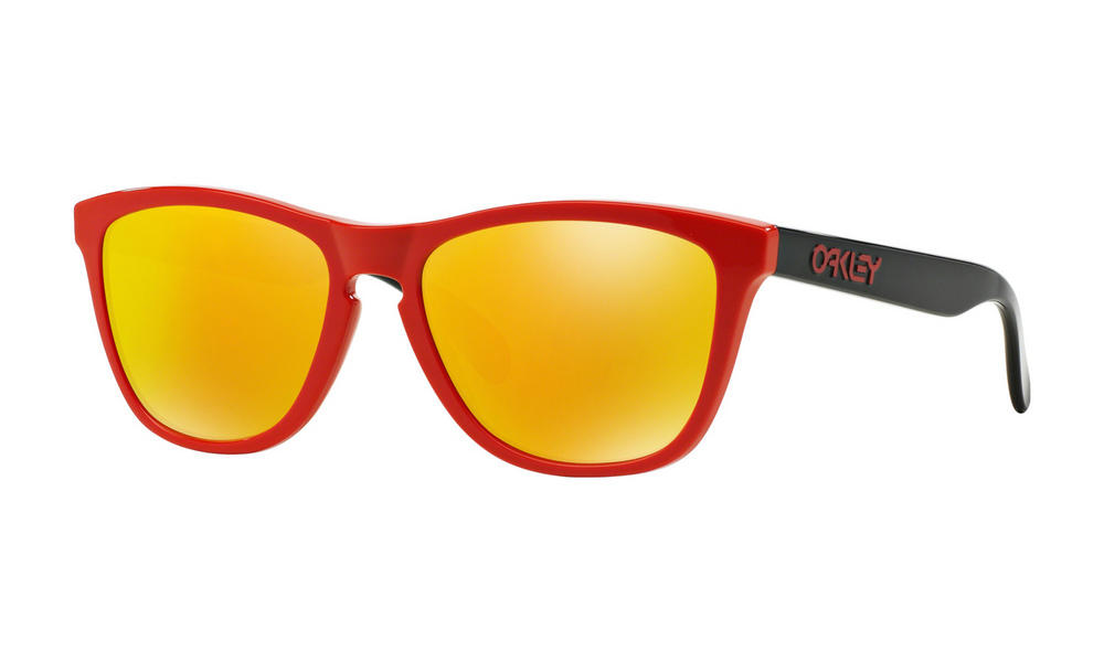 Oakley Frogskins Sunglasses Heritage Red Fire Iridium
