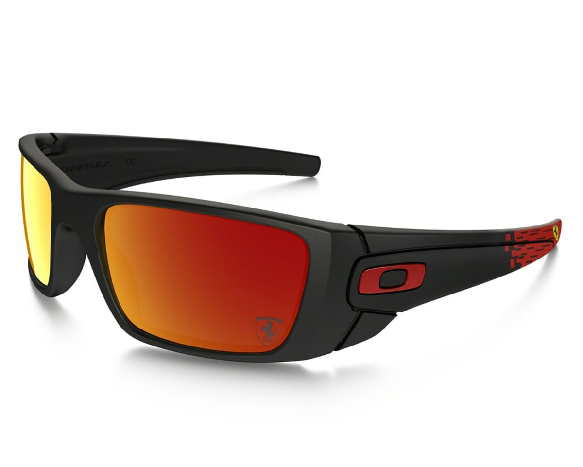 bece209c089 Oakley Fuel Cell Sunglasses Ferrari Matte Black Ruby Iridium ...