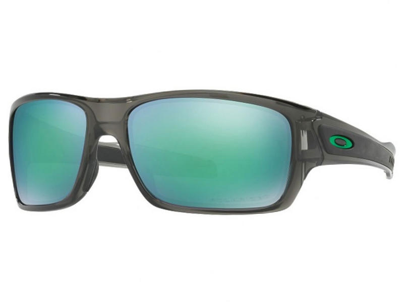 Oakely Turbine Sunglasses Grey Smoke Jade Iridium Polarized