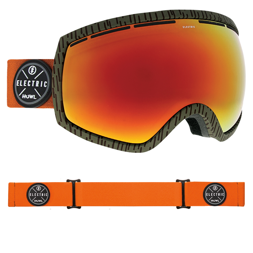 20e52a0aae5 Electric EG2 Goggles 2019 Howl Co-Lab with Brose Red Chrome + Freedom of  Choice Lens