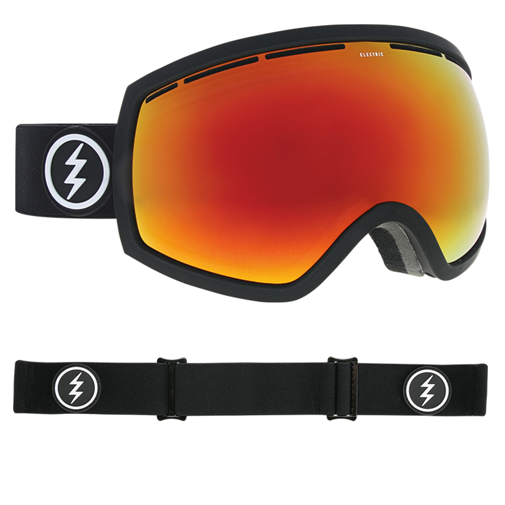 9a4ac9432af7 Electric EG2 Goggles 2019 Matte Black with Brose Red Chrome + Spare Pink  Lens