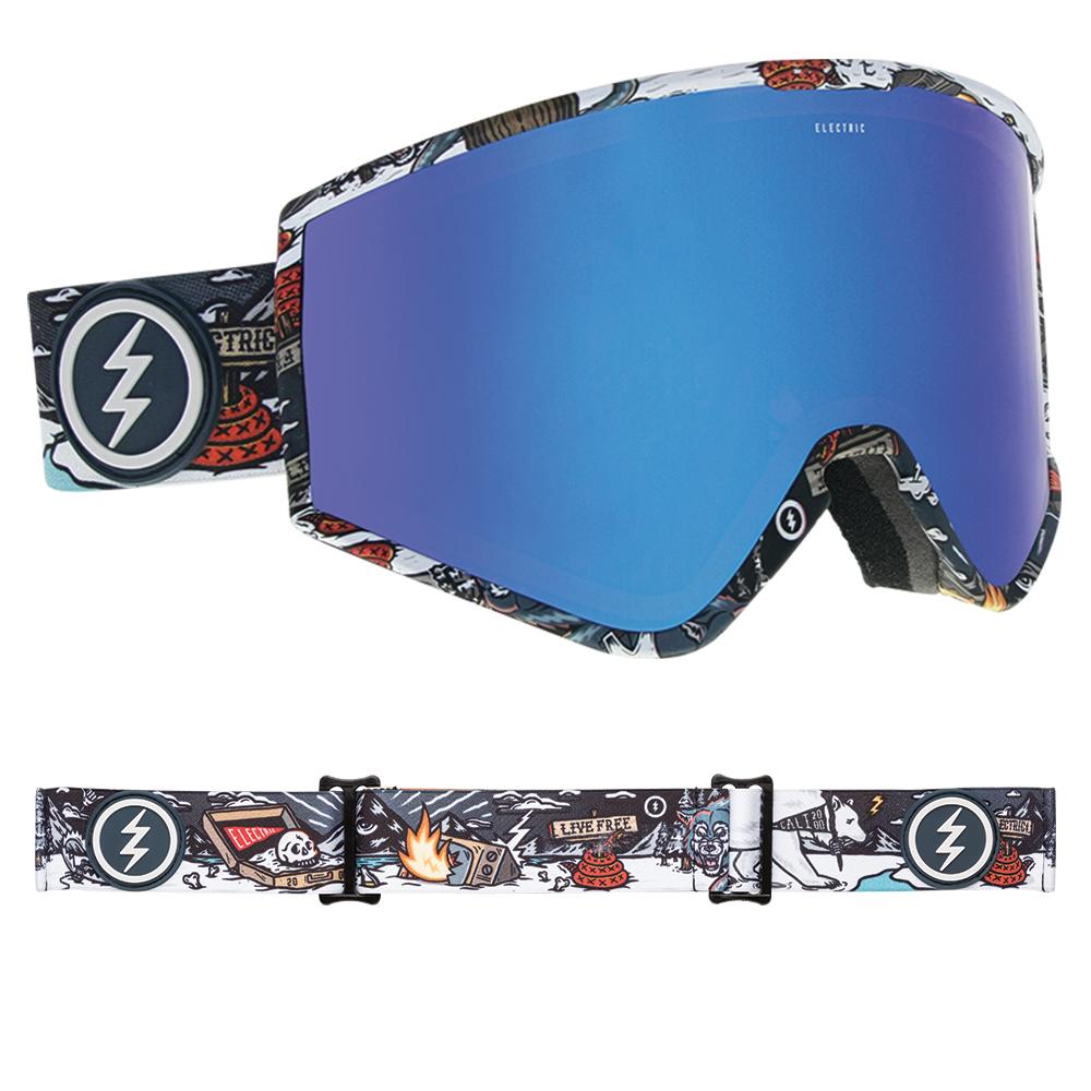 f2c11de414e Sentinel Electric Snowboard Goggles - Kleveland Curl with Brose Blue Chrome  Lens - 2019