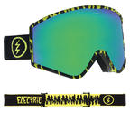 Electric Kleveland Goggles 2019 Sketch with Brose Green Chrome + Freedom of Choice Lens