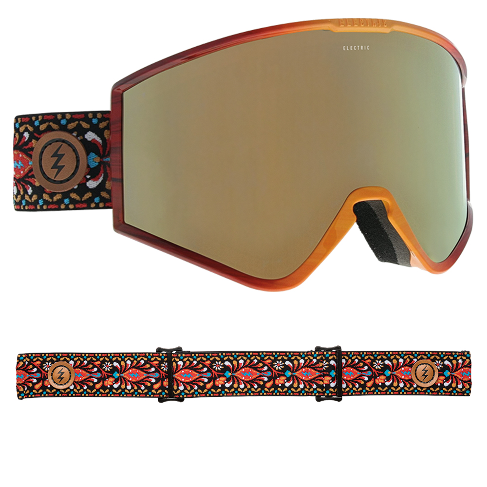 a41df509b12 Sentinel Electric Snowboard Goggles - Kleveland Soul with Brose Gold Chrome  Lens - 2019