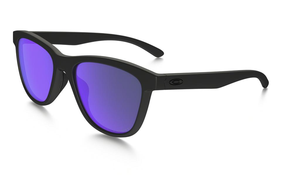 ece8e17b51d Oakley Moonlighter Sunglasses Matte Black Violet Iridium Polarized ...