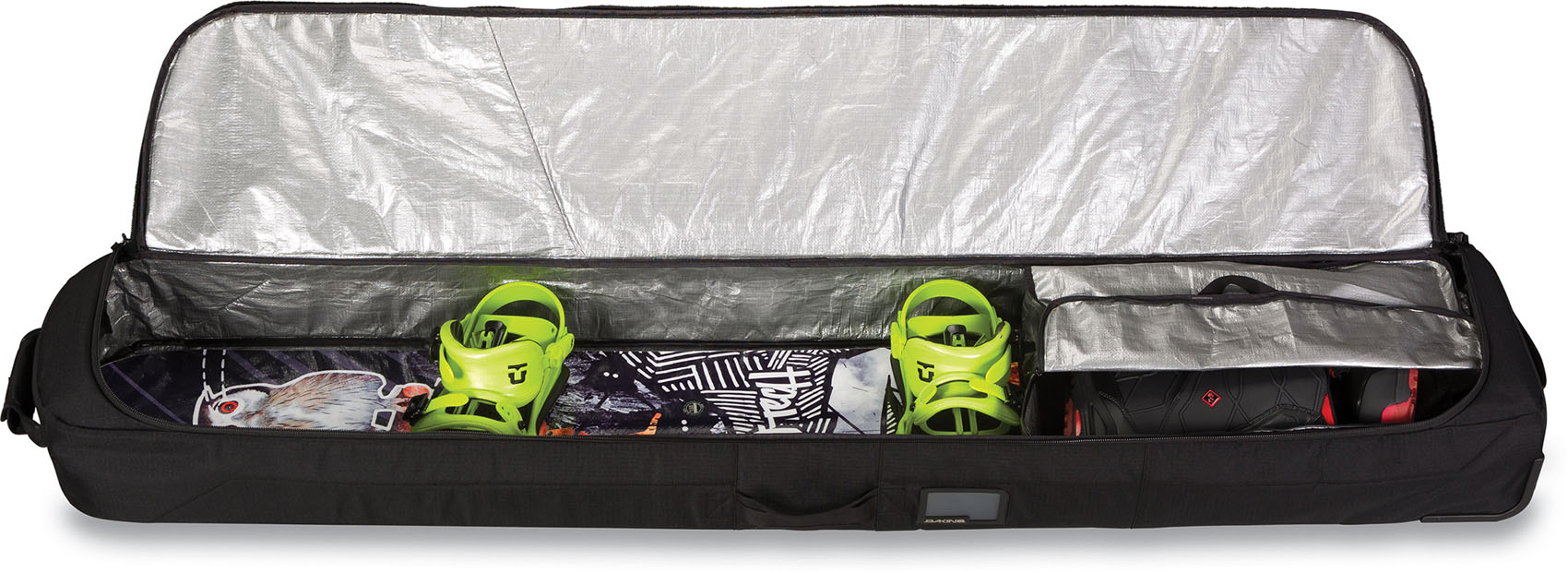 Dakine mit mit Dakine Rädern Koffer - Niedriger Roller Snowboard Tasche - Gepolstert Reise, e3d885