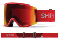 Smith Squad XL Goggles 2019 Rise ChromaPop Everday Red Mirror + Bonus Lens
