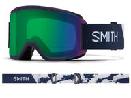 Smith Squad Goggles 2019 Ink Stratus ChromaPop Everday Green Mirror + Yellow Thumbnail 1