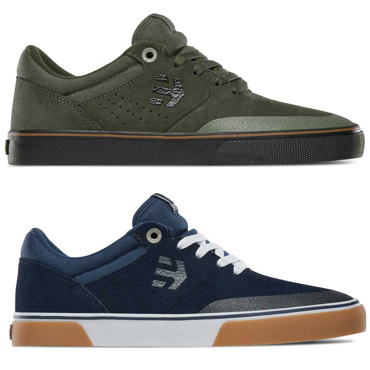 Sentinel Etnies Skate Shoes - Marana Vulc - Skateboarding Trainers Green  Black Navy Gum 1a241ab4b