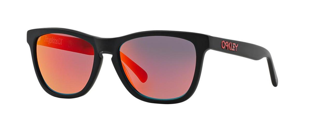 44ef246433 Oakley Frogskins LX Sunglasses Matte Black Ruby Iridium ...