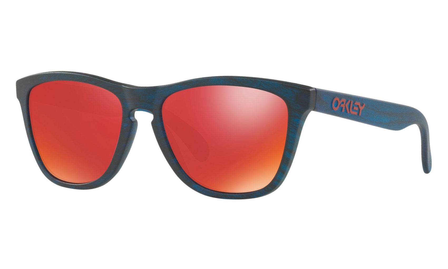 99b24c94c14 Oakley Frogskins Sunglasses Matte Blue Woodgrain Torch Iridium ...