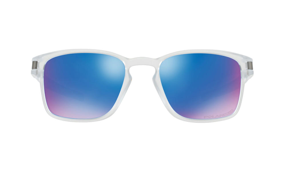 ba78739d39 Oakley Latch SQ Sunglasses Matte Clear Sapphire Iridium Polarized Thumbnail  2