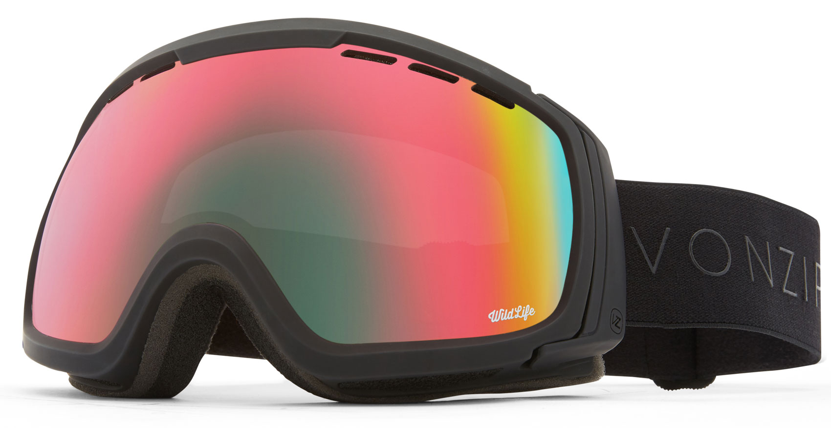 25548693d22 VonZipper Feenom NLS Goggles 2019 Black Satin Wildlife + Yellow ...