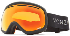 VonZipper Skylab Goggles 2019 Black Satin Wildlife Fire Chrome + Yellow