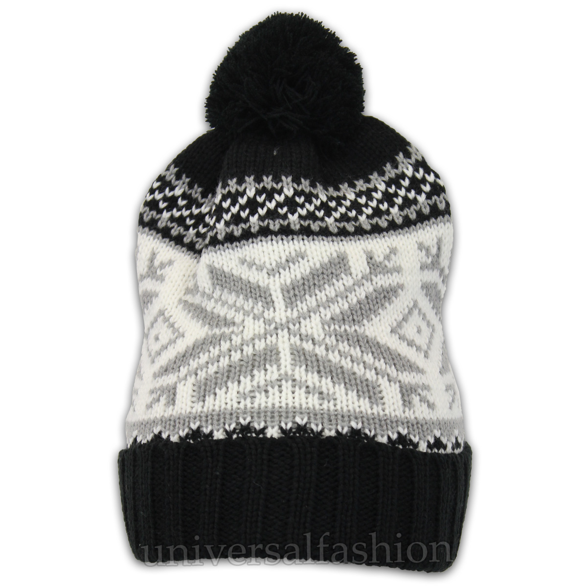 1f8f8a92326 ... Winter Reindeer Pom Pom Beanie Hat Black - Pom1 One Size. About this  product. Picture 1 of 2  Picture 2 of 2