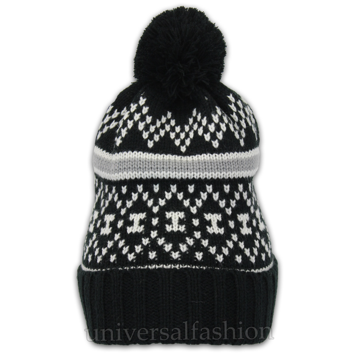 5e03abcff0c ... Winter Reindeer Pom Pom Beanie Hat Black - Pom2 One Size. About this  product. Picture 1 of 2  Picture 2 of 2