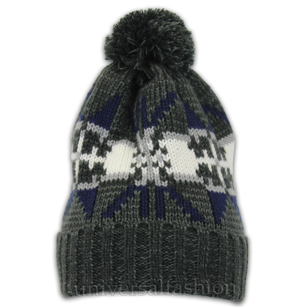 5286a319a1e ... Winter Reindeer Pom Pom Beanie Hat Charcoal - Pom3 One Size. About this  product. Picture 1 of 2  Picture 2 of 2