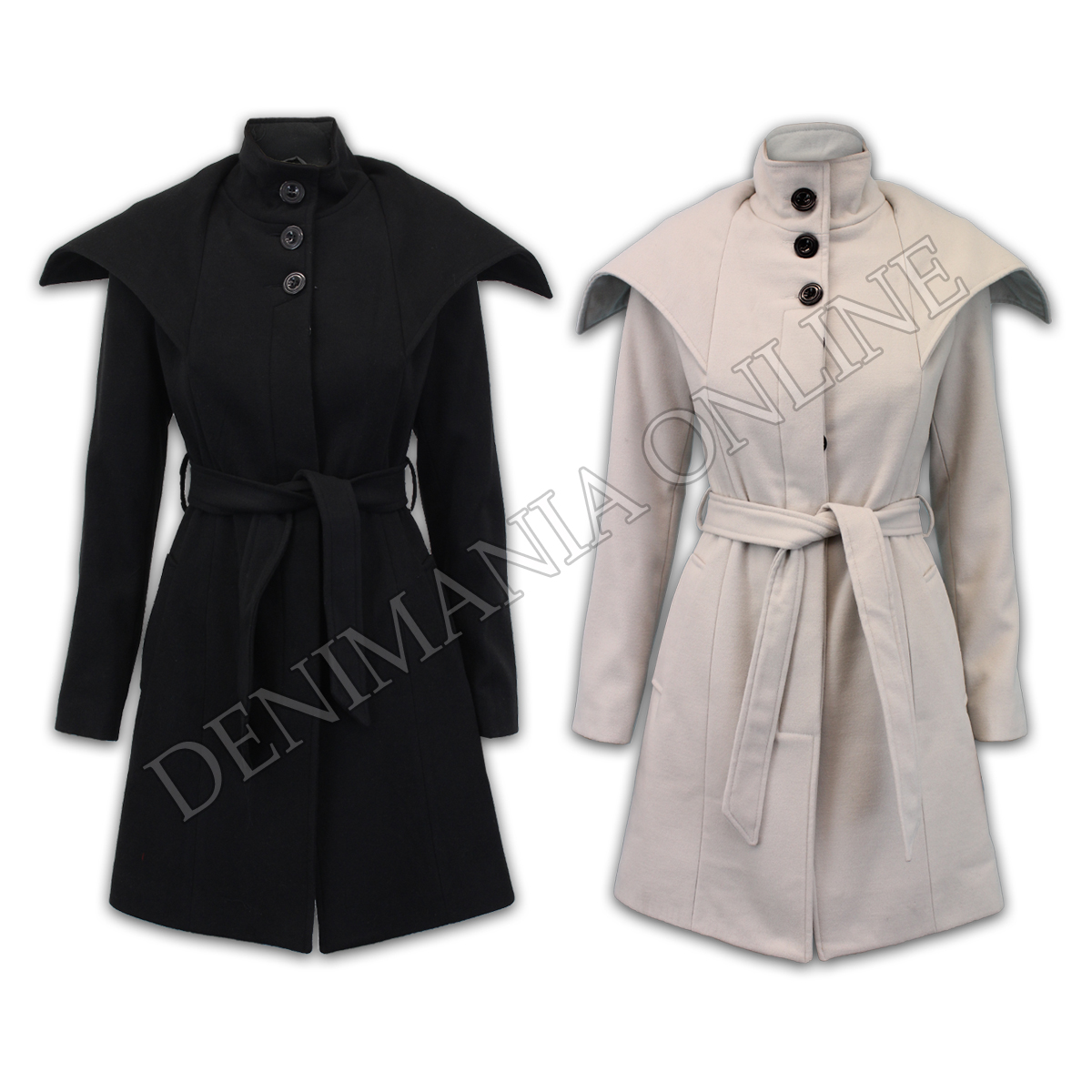 ladies outerwear fashion lined winter wool mix coat womens trench long jacket