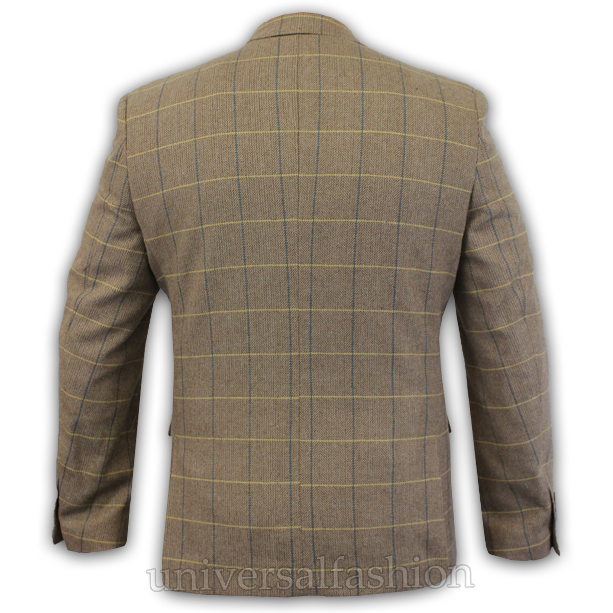 Mens-Blazer-Marc-Darcy-Wool-Look-Coat-Formal-Dinner-Check-Jacket-Patch-Lined-New thumbnail 6