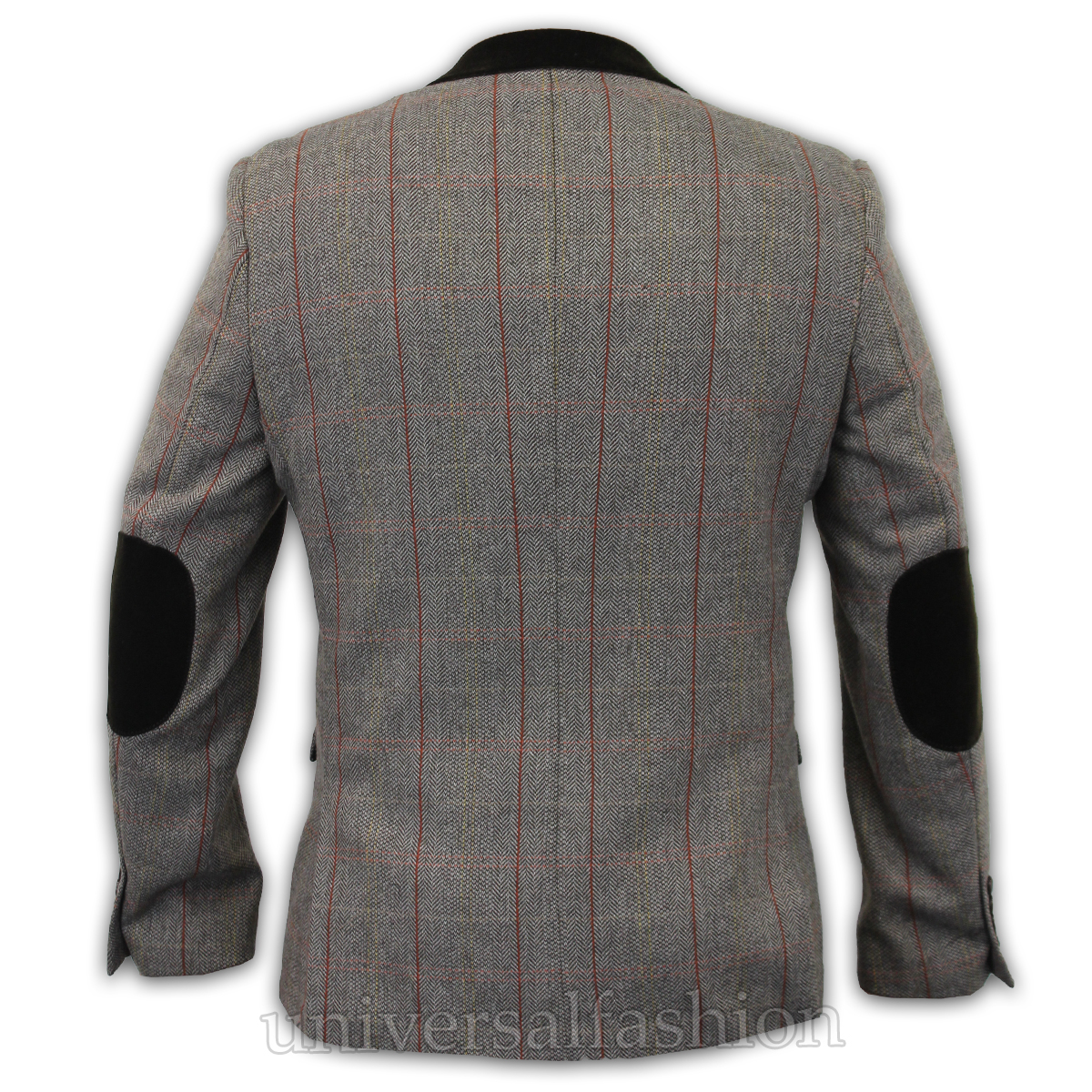 Mens-Blazer-Marc-Darcy-Wool-Look-Coat-Formal-Dinner-Check-Jacket-Patch-Lined-New thumbnail 3