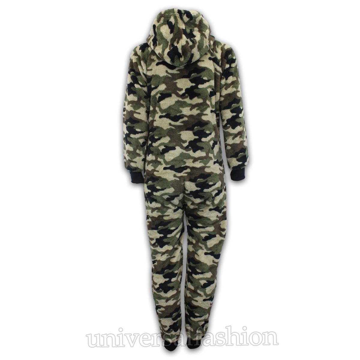 Kids Jumpsuits Boys Bodysuit Girls Aztec Print All In One Playsuit Hooded Fleece