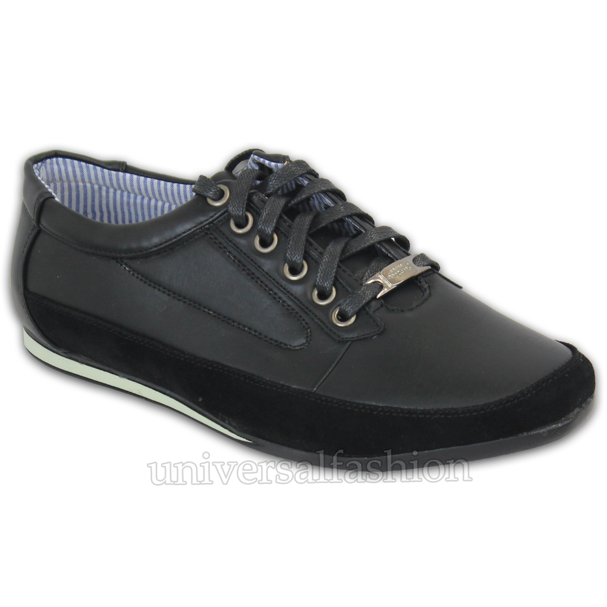 073ca87ccc147 Mens Trainers Shoes Sneakers Pump Black Lace Up Leather Fashion ...