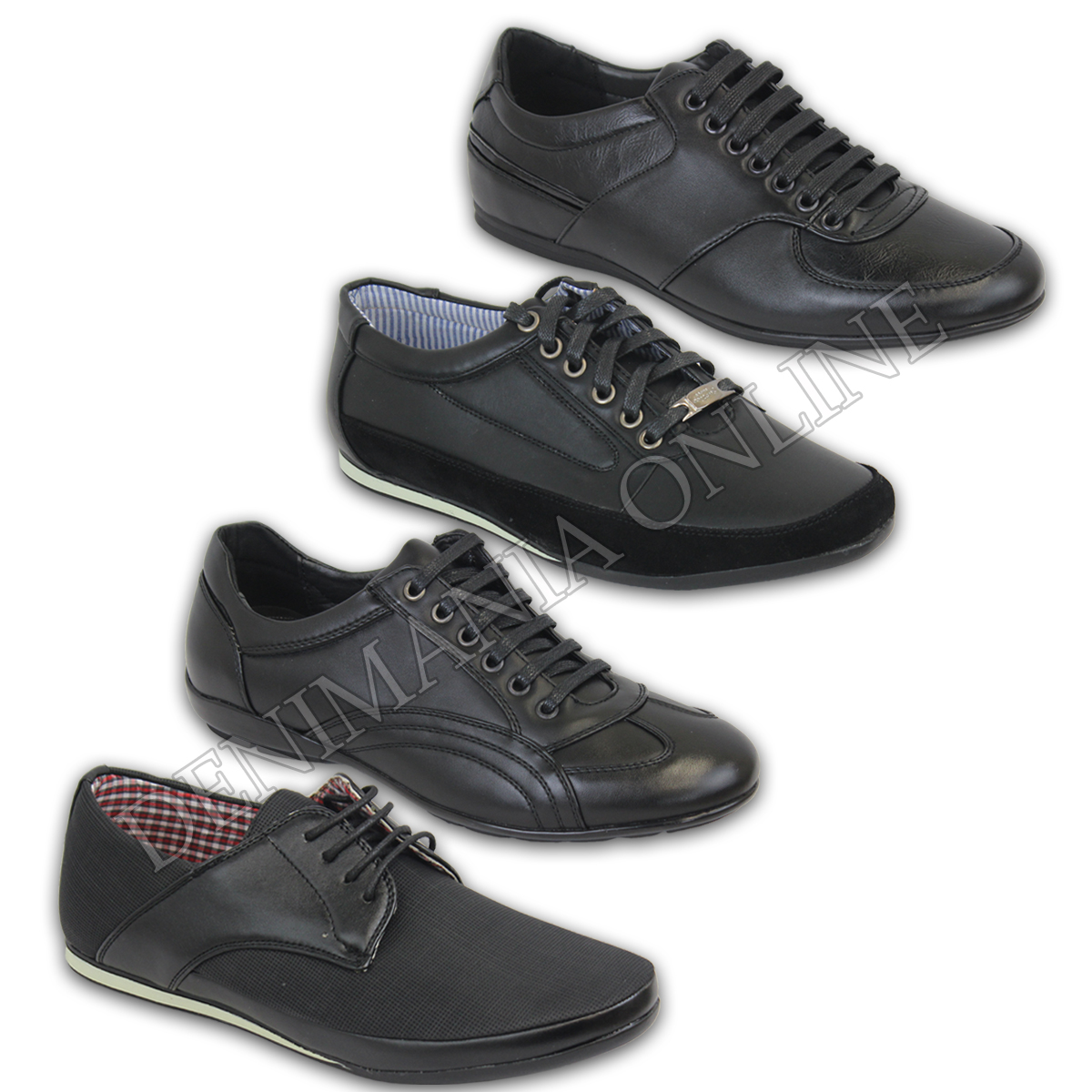 28d586e66d0d6 Details about mens pump black lace up shoes sneakers fashion casual party leather  trainers