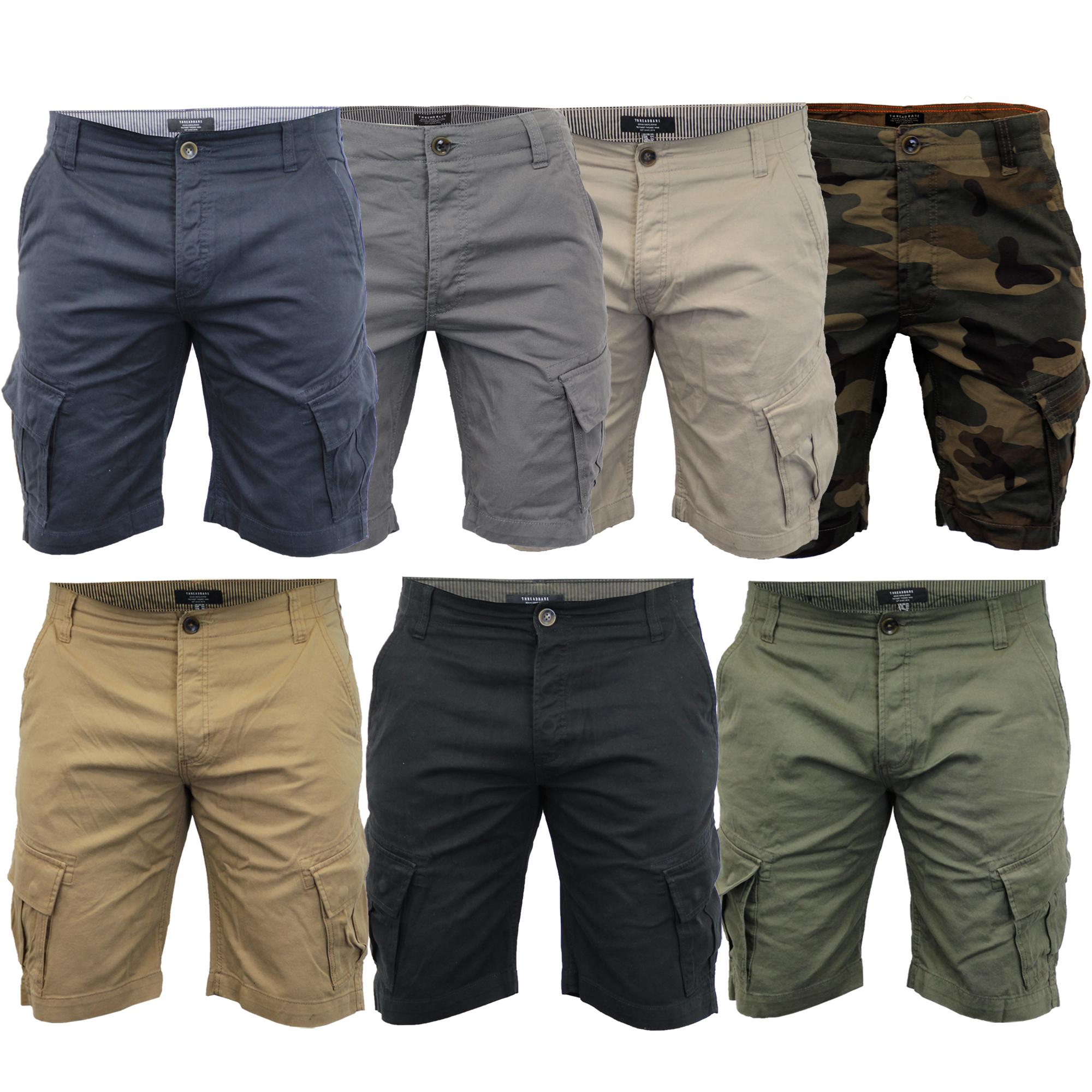 Mens-Cargo-Chino-Shorts-Threadbare-Combat-Knee-Length-Westace-Military-Summer thumbnail 6