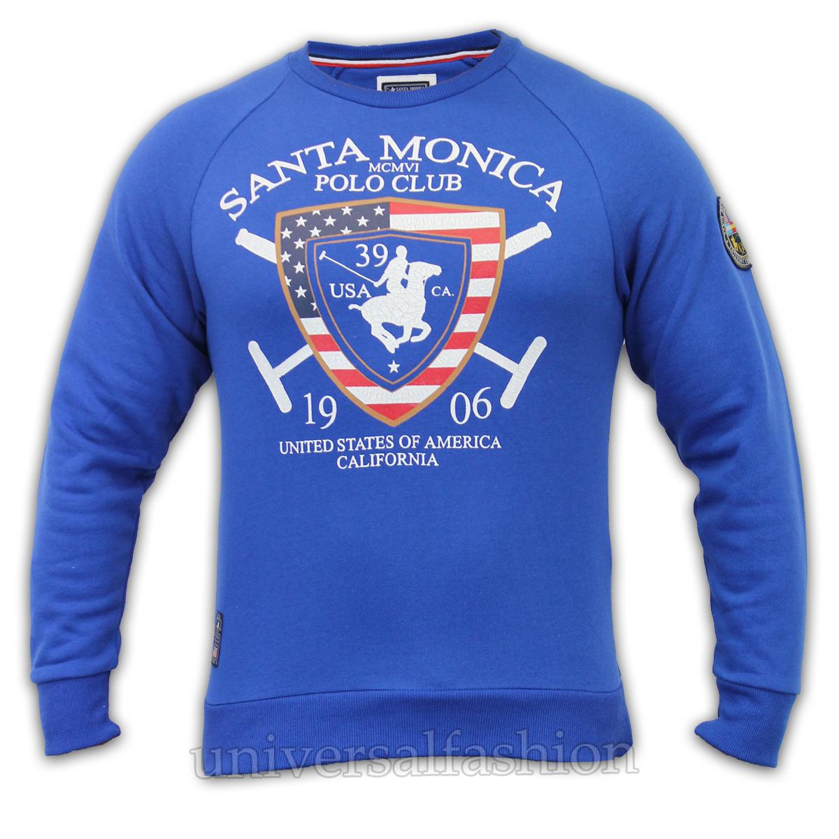 Sudadera para Hombre Santa Monica Polo Club Americano Eeuu Top Forro ... 3750669f35b6e