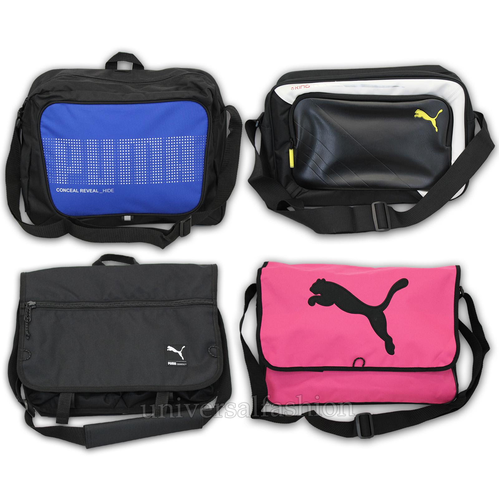 f6298023a1af Details about Mens PUMA CAT Bag Womens Deck Shoulder King Messenger School  Satchel Laptop New