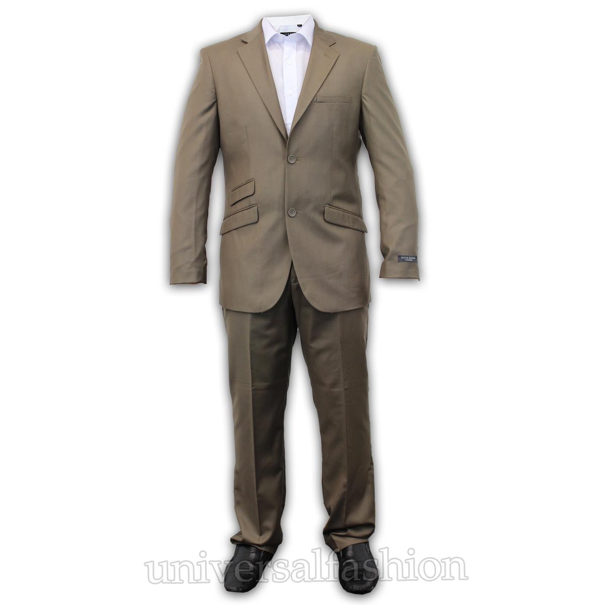 Mens Voeut Blazer Trouser Wool Mix Suit 2 Piece Pant Coat